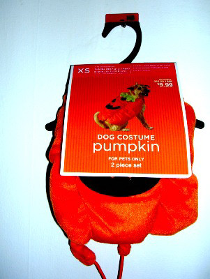 Dog Pet Costume Pumpkin Outfit XSmall